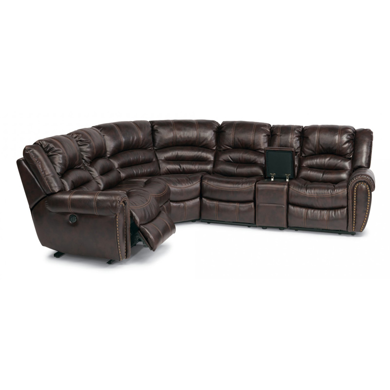 Flexsteel 1210 sectp crosstown leather power reclining for 72 inch leather couch