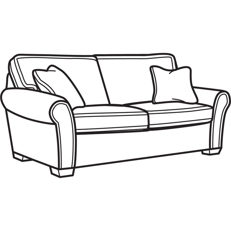 Flexsteel Vail Sofa Price: Flexsteel 7305-30 Vail Fabric Two Cushion Sofa Discount