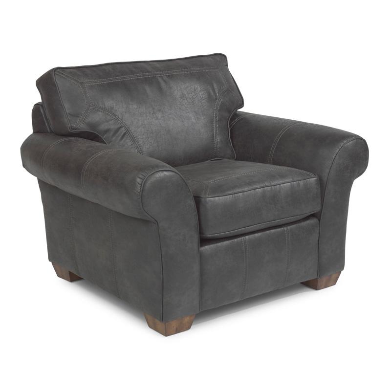 Flexsteel Vail Sofa Price: Flexsteel N7305-10 Vail NuvoLeather Chair Discount