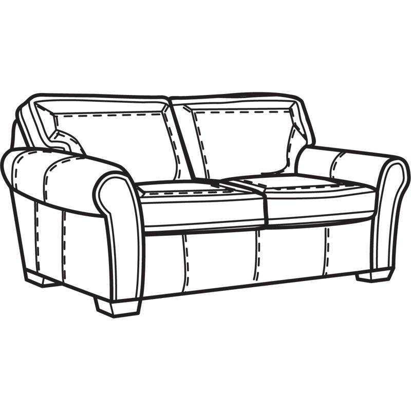 Flexsteel Vail Sofa Price: Flexsteel N7305-30 Vail NuvoLeather Two Cushion Sofa