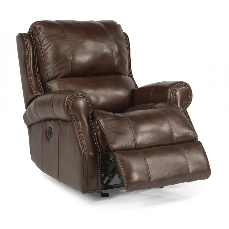 Flexsteel 1533 54p Miles Leather Power Gliding Recliner