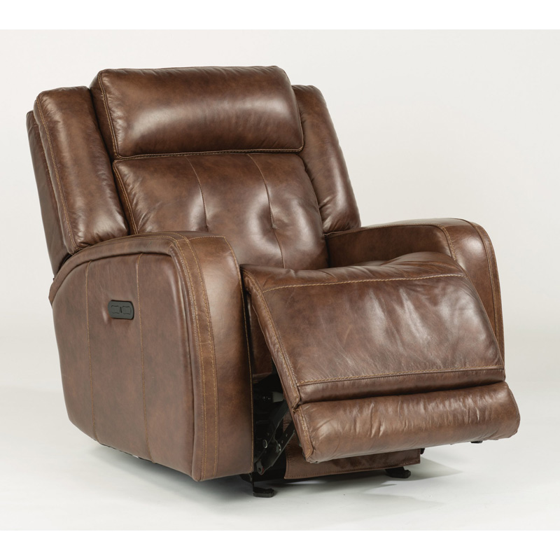 Flexsteel 1559 54ph Jude Leather Power Gliding Recliner