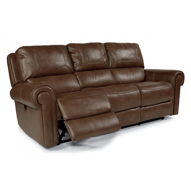 Flexsteel 1664 62p Weston Fabric Power Reclining Sofa