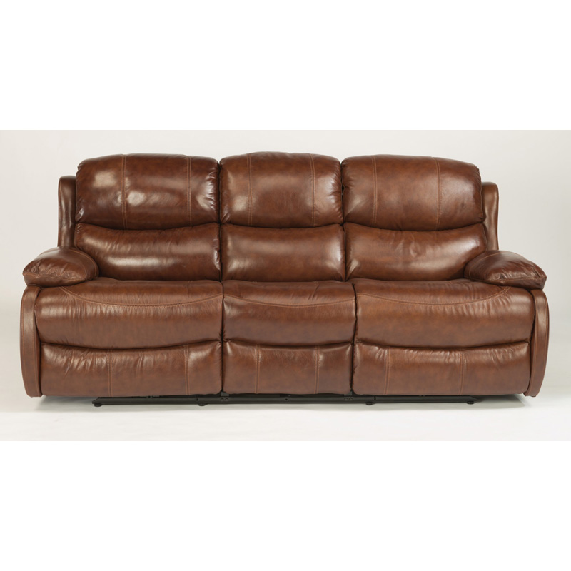 Leather Sofa Discount: Flexsteel 1677-62 Amsterdam Leather Reclining Sofa