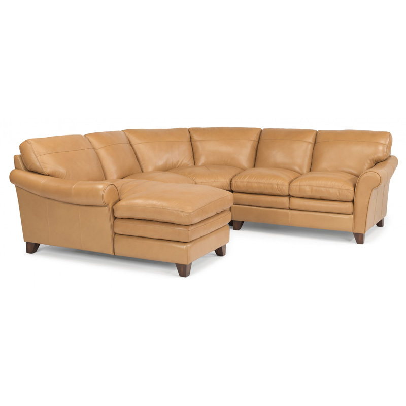 Flexsteel 1749 sect sofia leather sectional discount for Affordable furniture la