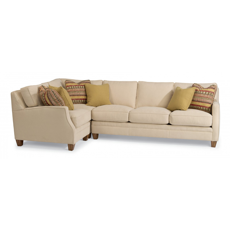 Discount Large Sectional Sofas: Flexsteel 7564-Sect Lennox Fabric Sectional Discount