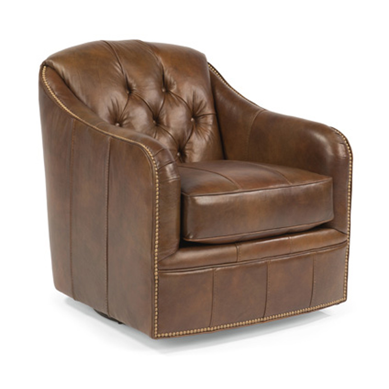 Flexsteel B3080 11 Fairchild Leather Swivel Chair Discount