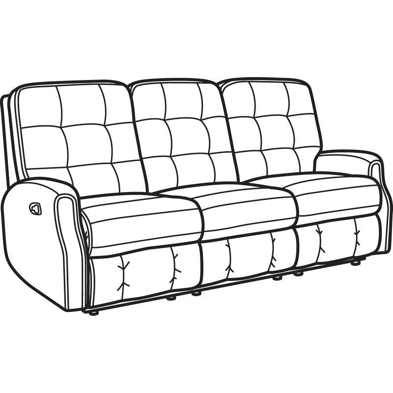 Flexsteel 2882 62 Devon Fabric Reclining Sofa Without