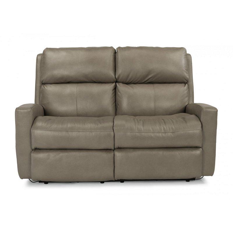 Flexsteel Electric Sofa: Flexsteel 3900-60H Catalina Leather Power Reclining