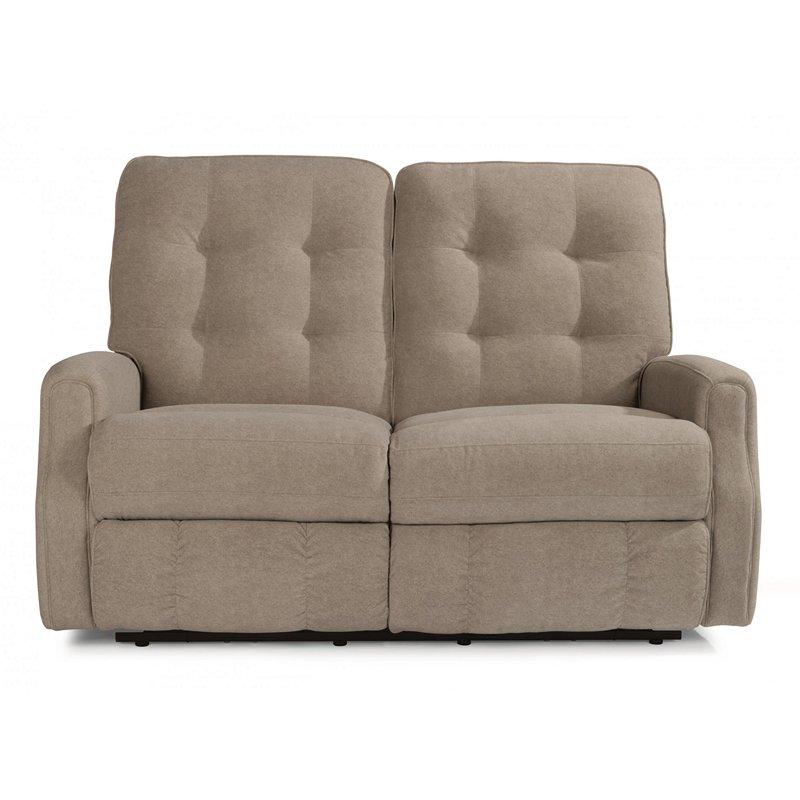 Flexsteel 3882 60 Devon Leather Reclining Loveseat Without Nailhead Trim Discount Furniture At