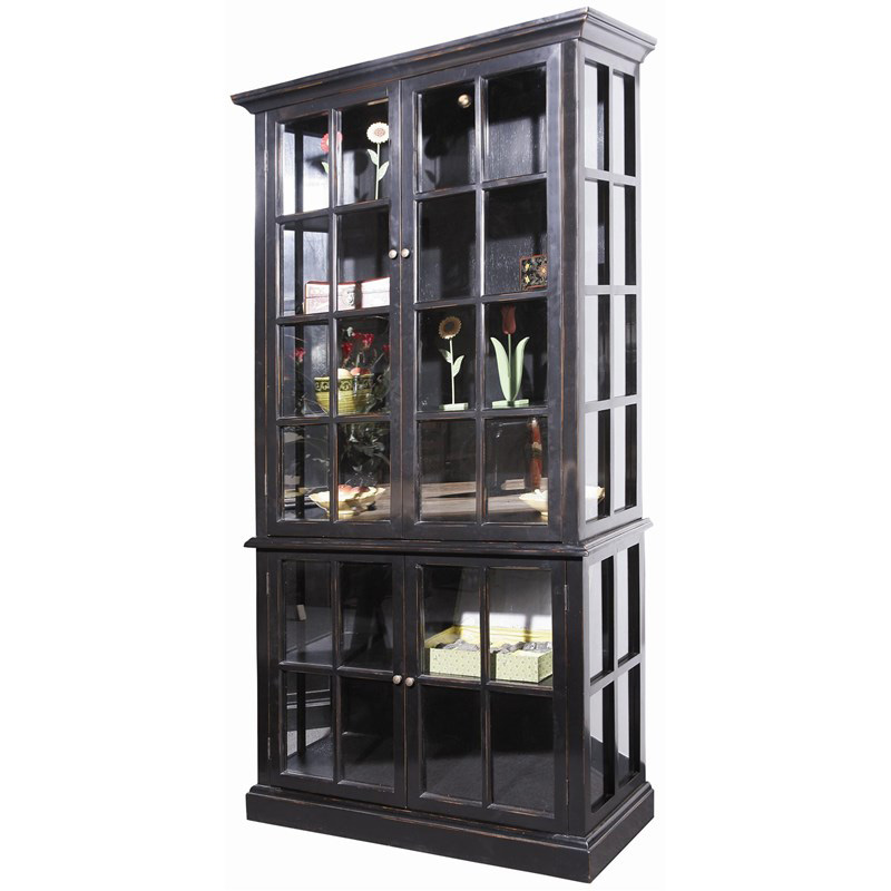 Furniture Classics 71040 Fc Living Room Glass Door Cabinet Discount Furniture At Hickory Park