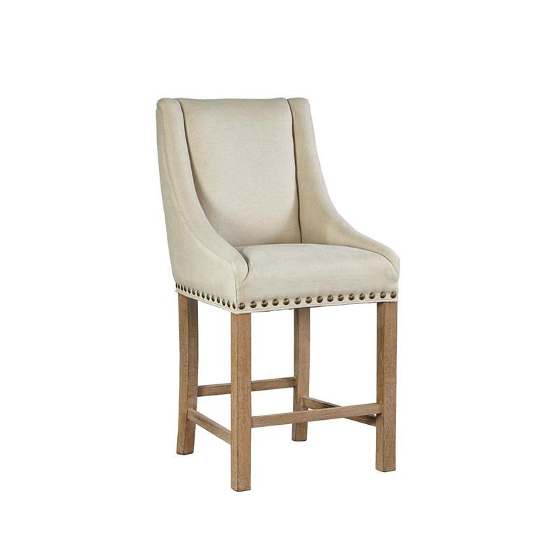 Furniture Classics 71940 Low Arm Curve Linen Counter Stool