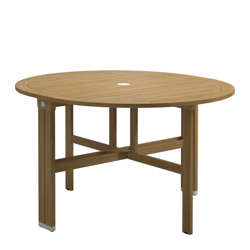 Wicker dining table outdoor and patio hickory park furniture galleries - Round gateleg dining table ...