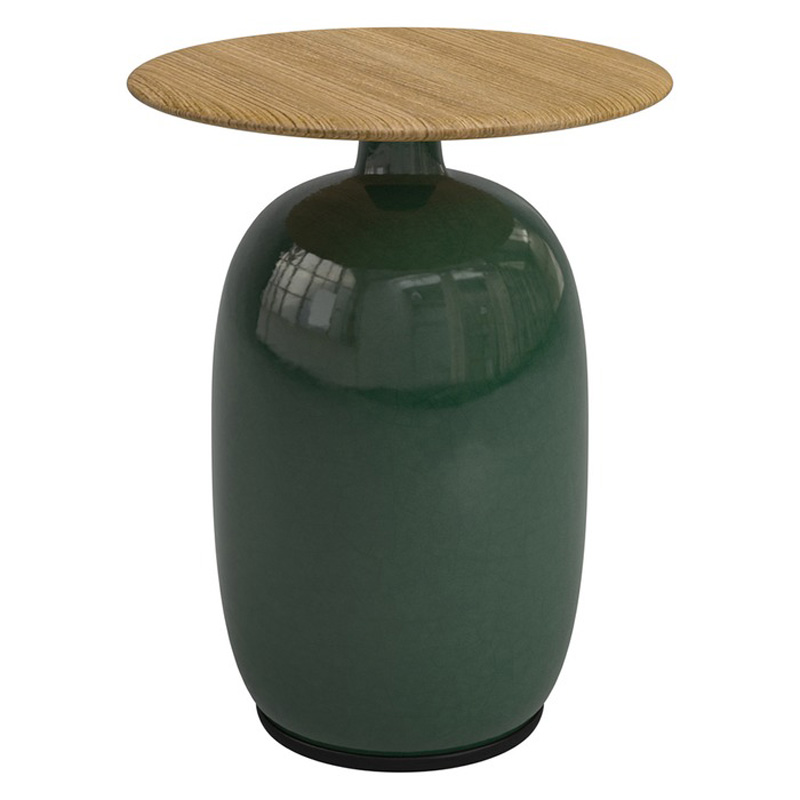 Gloster Round Side Table Teak Top