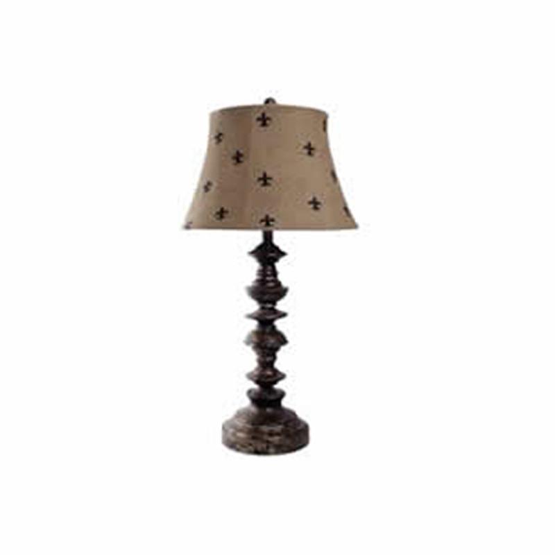 guildmaster 350540 guildmaster lighting fleur de lis lamp discount. Black Bedroom Furniture Sets. Home Design Ideas