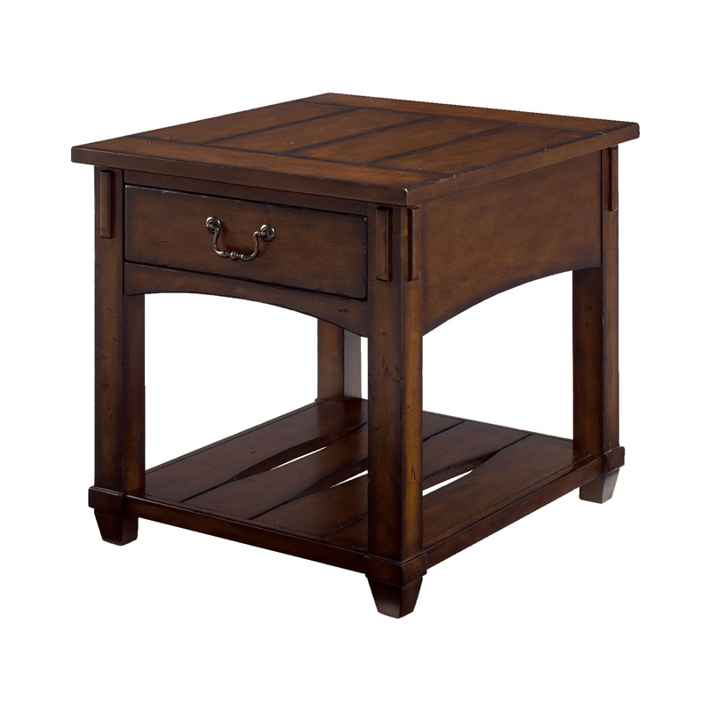 Hammary 049 915 Tacoma Rectangular End Table Discount Furniture At Hickory Park Furniture Galleries