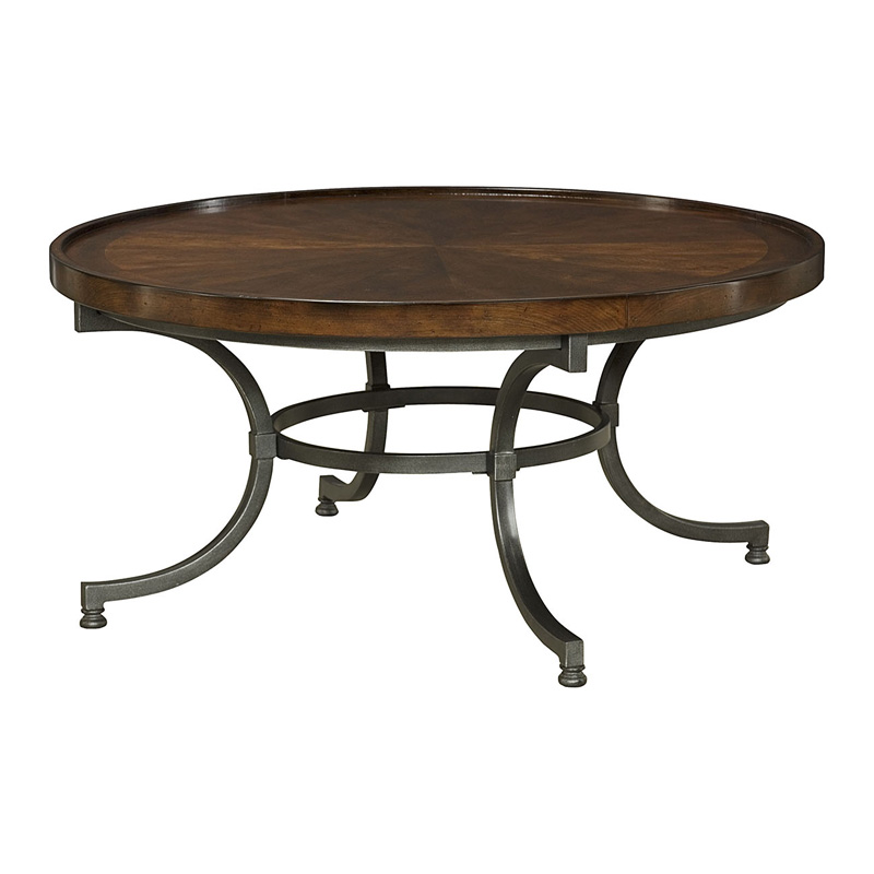 Hammary 358 911 Barrow Round Cocktail Table Discount Furniture At Hickory Park Furniture Galleries