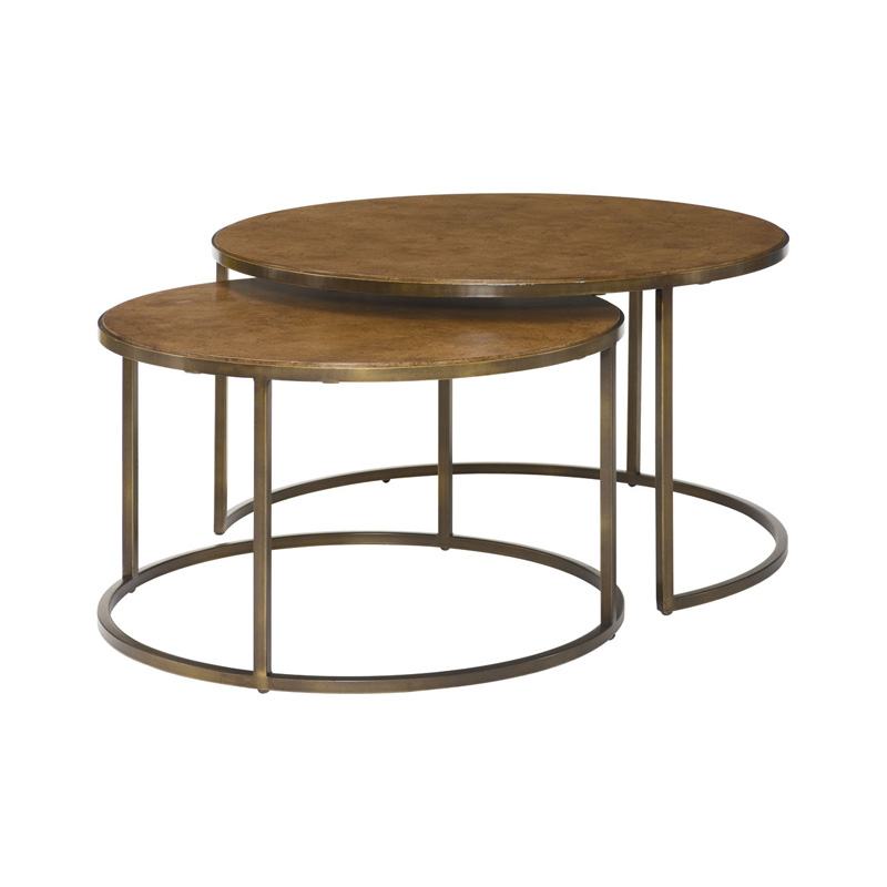 Hammary 376 911 Soho Round Nesting Cocktail Table Discount Furniture At Hickory Park Furniture