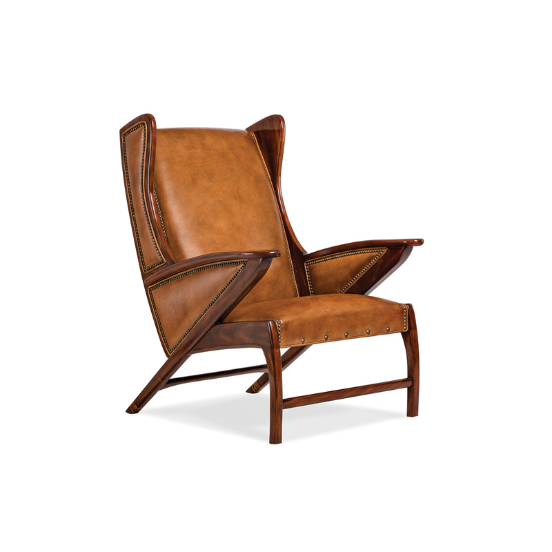 Hancock and Moore 5908 Boomerang Chair Discount Furniture