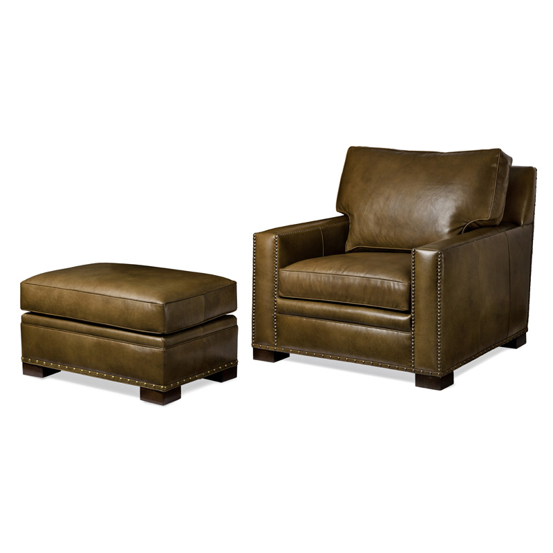 Hancock And Moore 5712 1 5712 O Emilio Chair And Ottoman