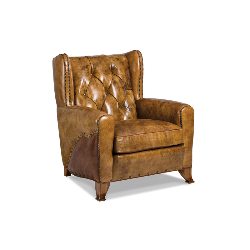 Hancock And Moore Tufted Leather Sofa: Hancock And Moore 5842-1-T Expedition Tufted Chair