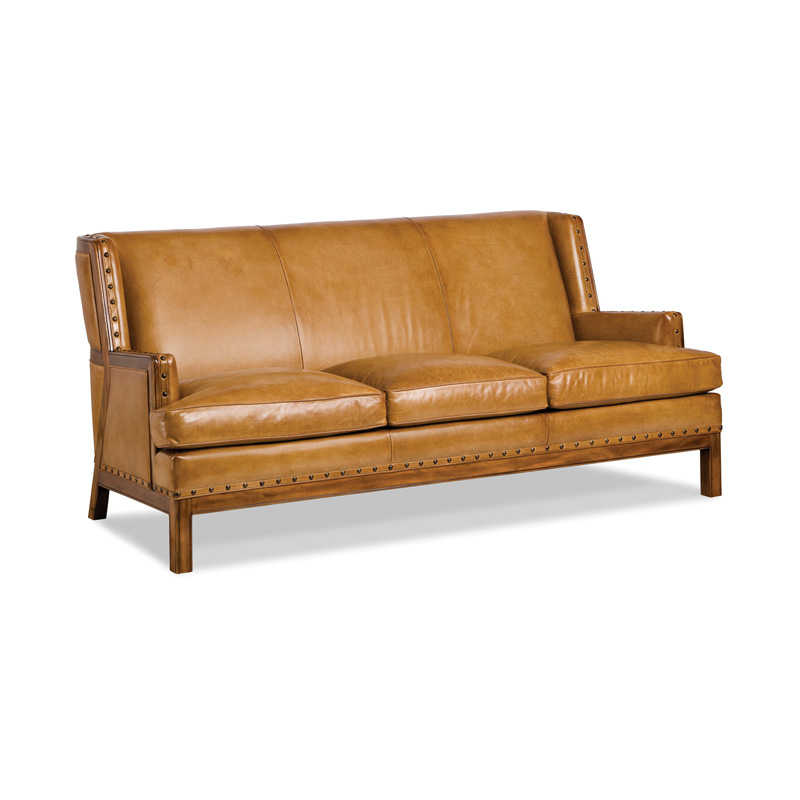 Hancock And Moore 5507 3 James Farm Sofa Discount Furniture At Hickory Park Furniture Galleries
