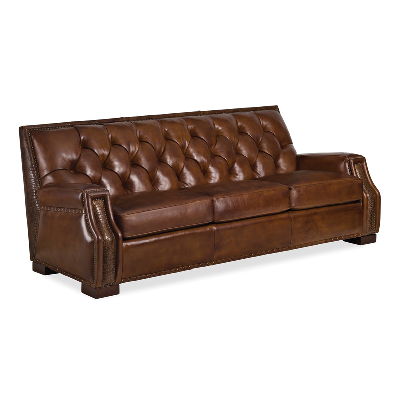 Hancock and moore 6119 3 t lasso tufted sofa discount furniture at hickory park furniture galleries Tufted sofa cheap