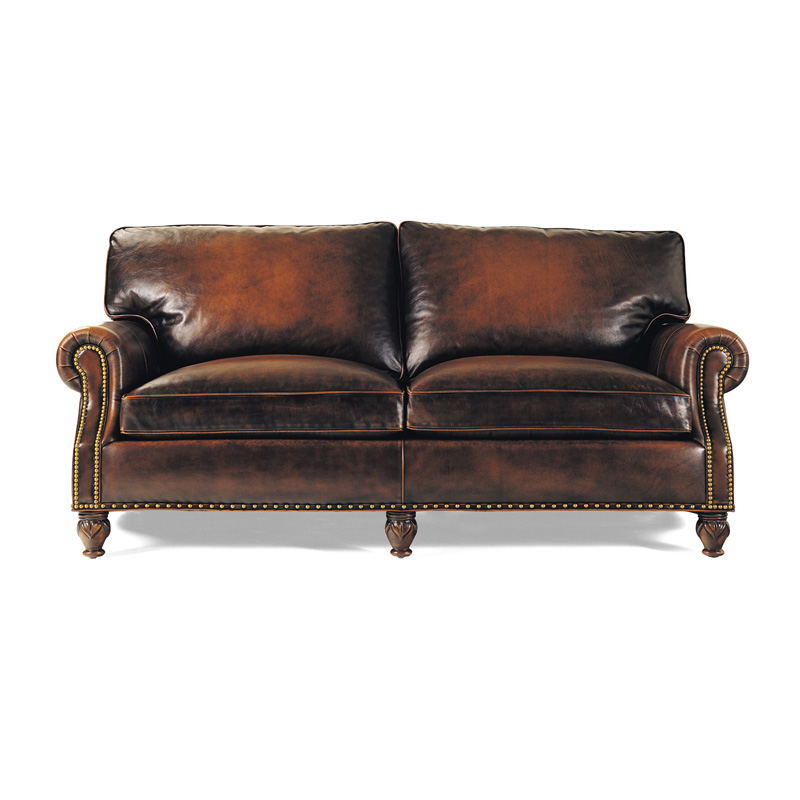 Hancock and moore 4106 member apartment size sofa discount furniture at hickory park furniture - Apartment size sectional sofa ...