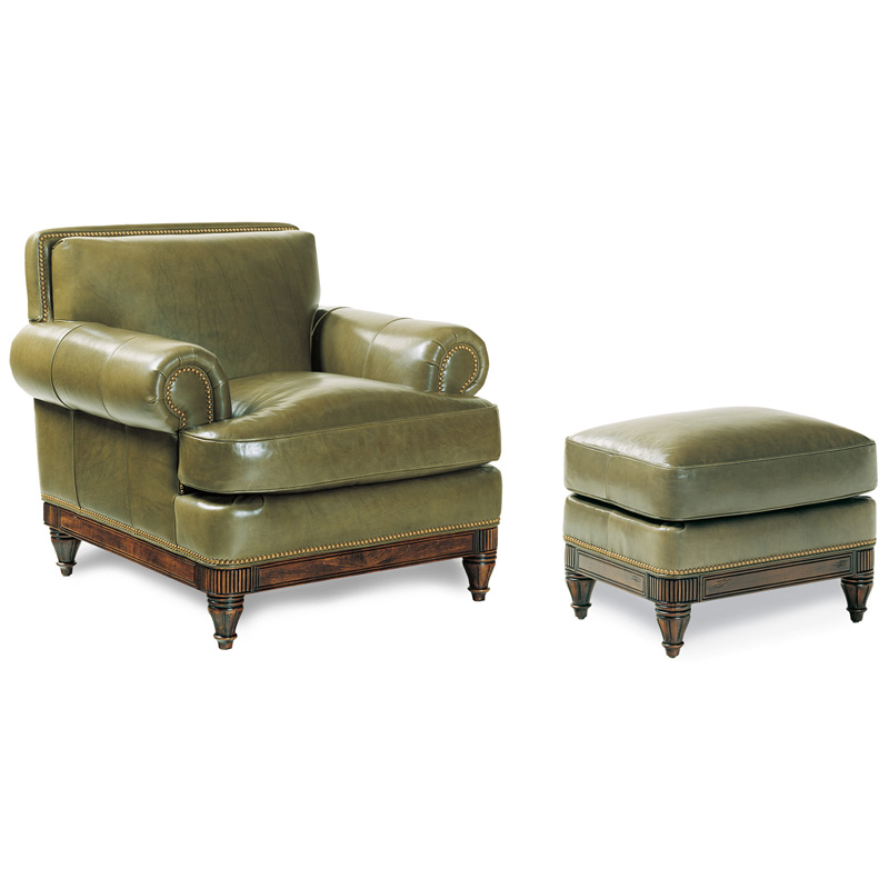 Hancock And Moore Tufted Leather Sofa: Hancock And Moore 4230/4229 Robinson Chair And Ottoman