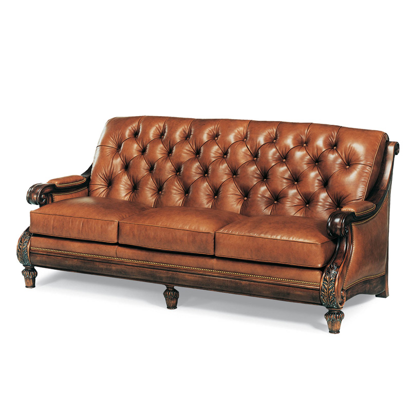 Hancock And Moore Tufted Leather Sofa: Hancock And Moore 1373-82 Somerset Tufted Sofa Discount