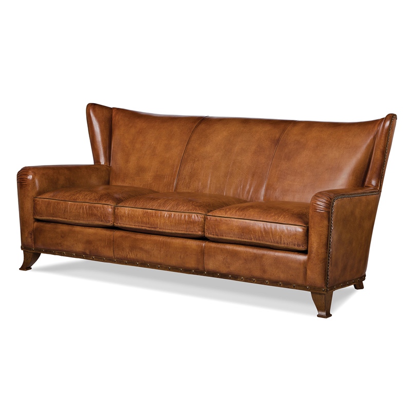 Hancock and moore 5798 3 the saddle sofa discount for Affordable furniture 3 piece sectional in wyoming saddle