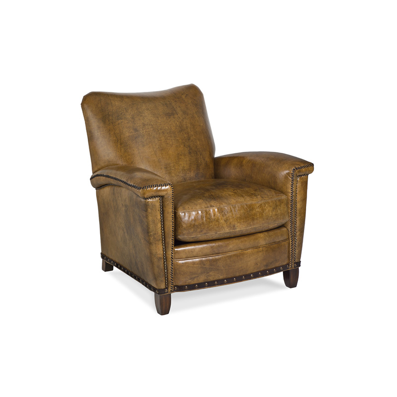 Hancock And Moore 6121 1 P Tulip Plain Back Club Chair