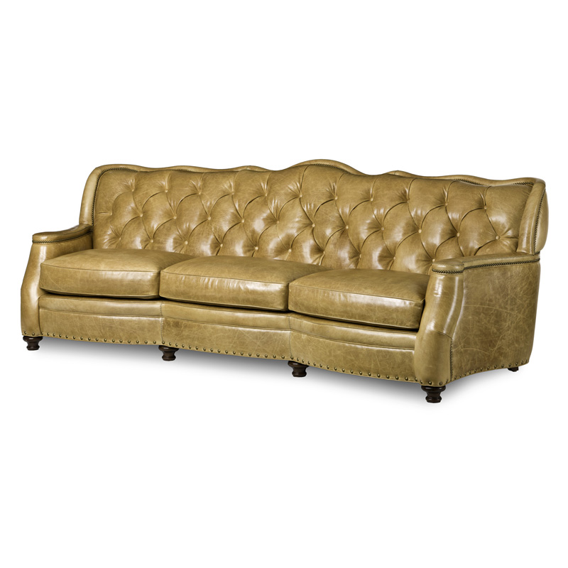 Hancock And Moore 5604 Utah Tufted Sofa Discount Furniture At Hickory Park Furniture Galleries