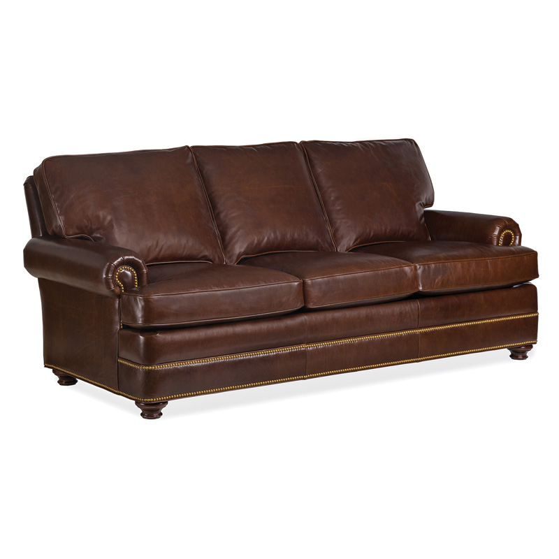 Leather Sofa Discount: Hancock And Moore 6565-3 Doyle Leather Sofa Discount