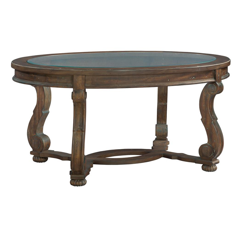 Hekman 1 6100 Napa Valley Oval Coffee Table Discount Furniture At Hickory Park Furniture Galleries