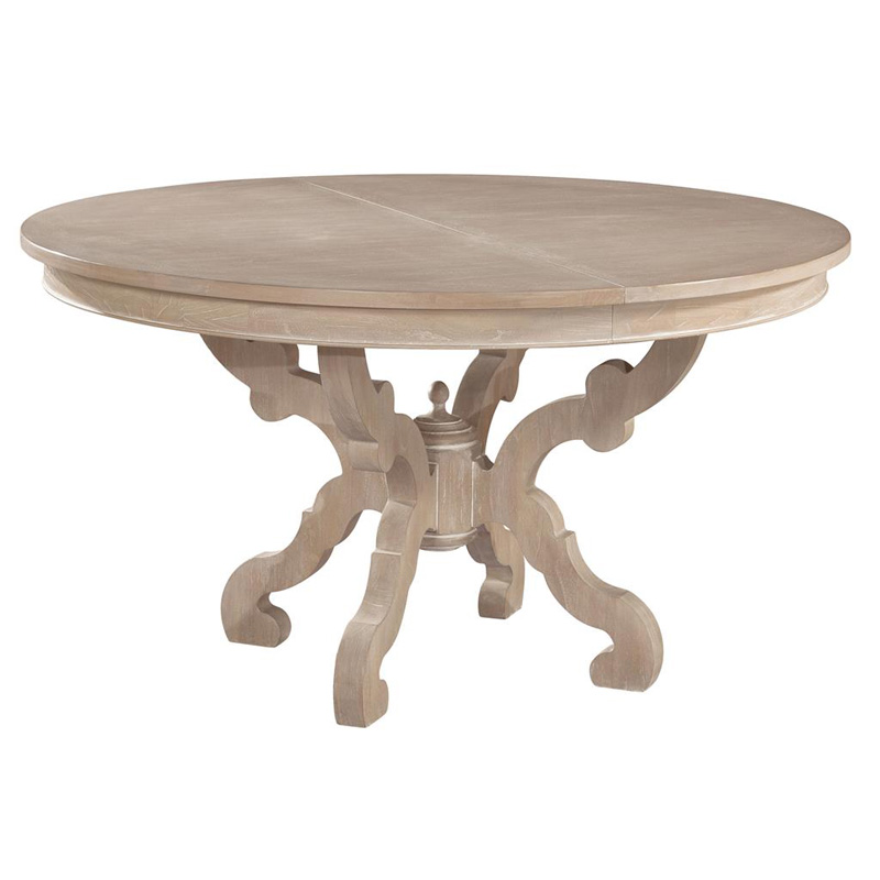 Hekman 1 4121 suttons bay baroque round dining table discount furniture at hi - Table baroque conforama ...
