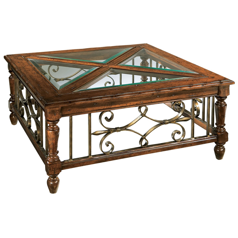 Hekman 8 7215 Rue De Bac Square Coffee Table Discount Furniture At Hickory Park Furniture Galleries