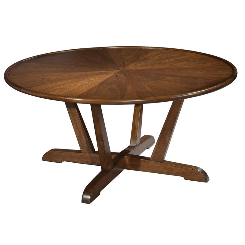 Hekman 951302 Mid Century Modern Round Coffee Table Discount Furniture At Hickory Park Furniture