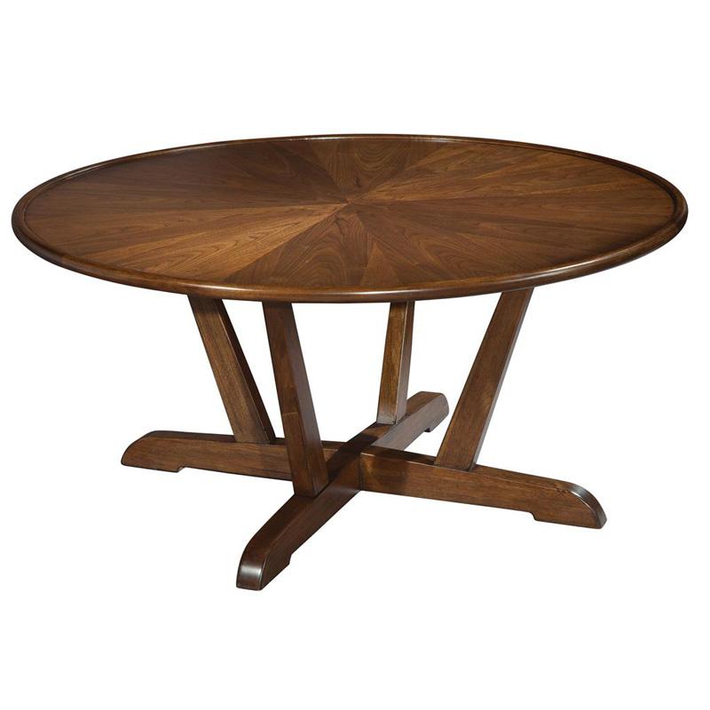 Round Mid Century Modern Coffee Table: Hekman 951302 Mid Century Modern Round Coffee Table