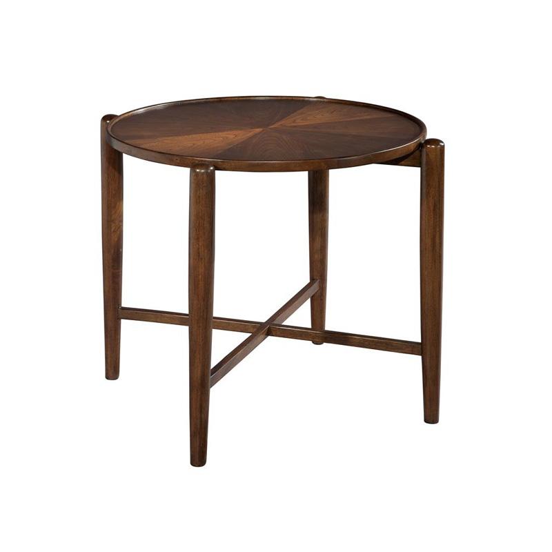 Hekman 951306 Mid Century Modern Round Side Table Discount