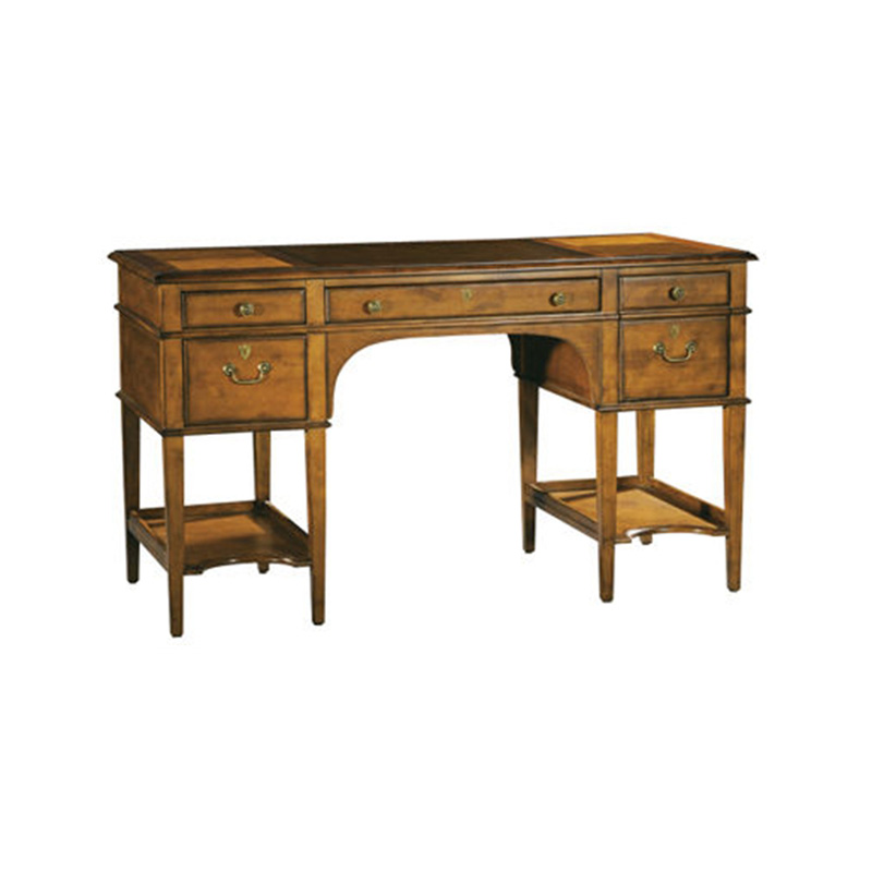 Hekman 7 1111 Writing and Accent Desks Leather Top Leg