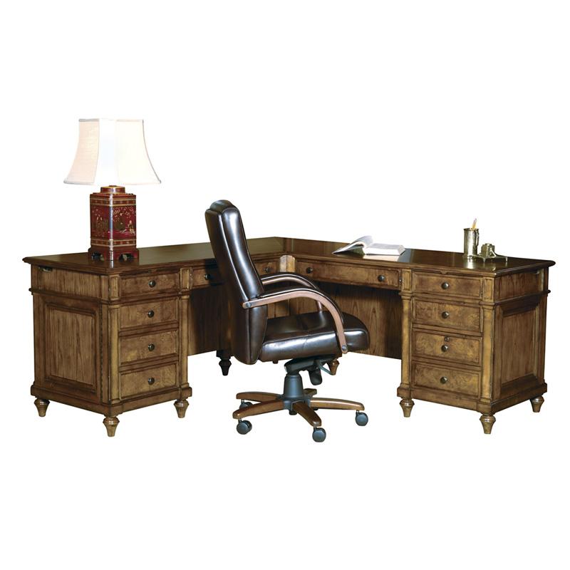 hekman 7 9107 urban ash burl executive l desk discount