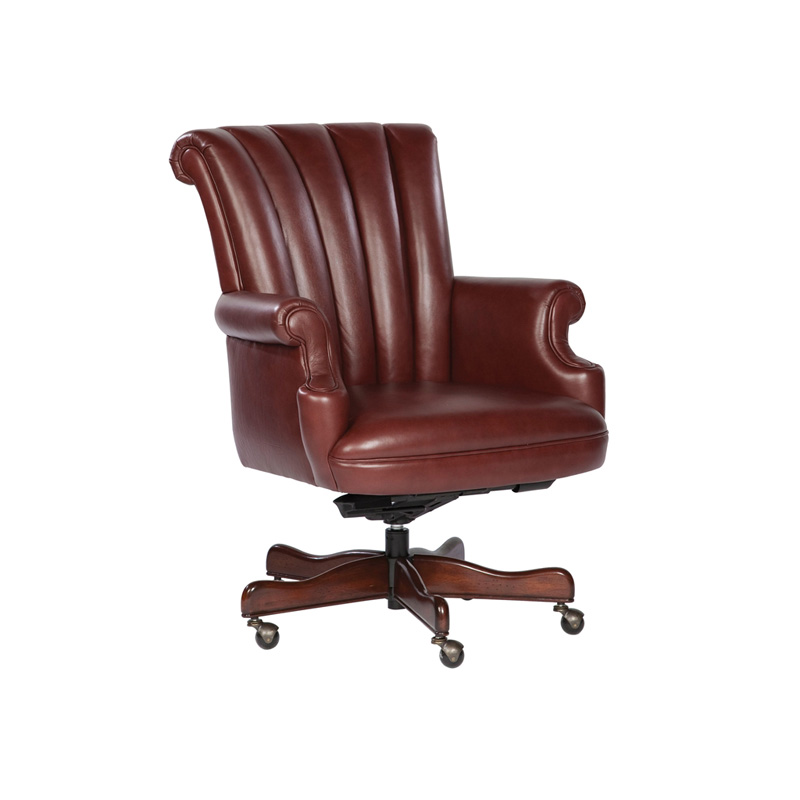 hekman 7 9251m office chairs merlot leather executive