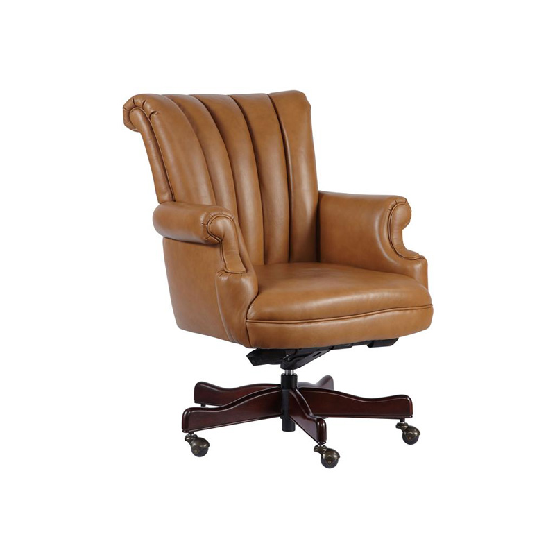 hekman 7 9251t office chairs tan leather executive chair