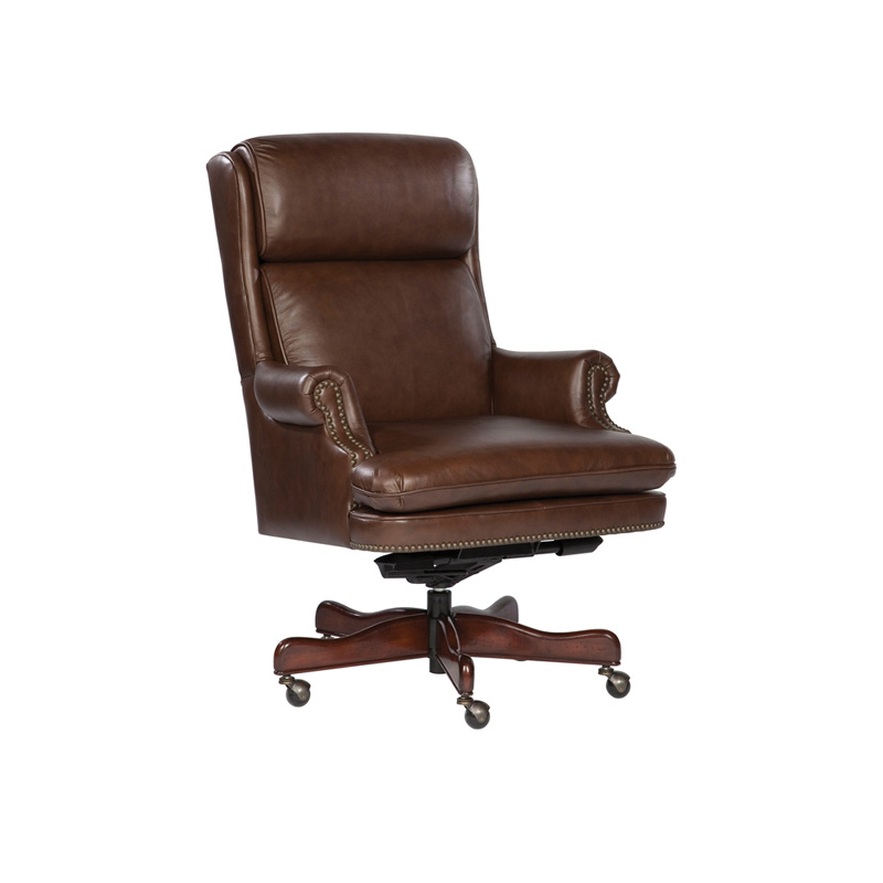 Hekman 7 9252c Office Chairs Coffee Leather Executive