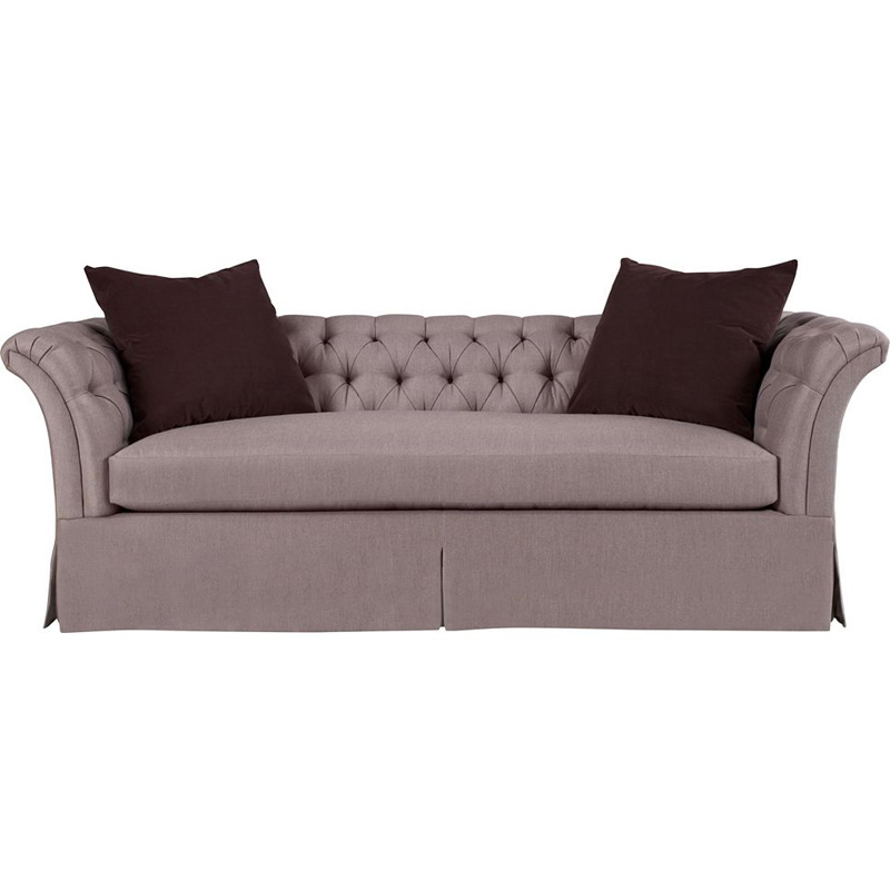 Hickory Chair 706 89 Hartwood Marquette Tufted Dressmaker Sofa Discount Furniture At Hickory