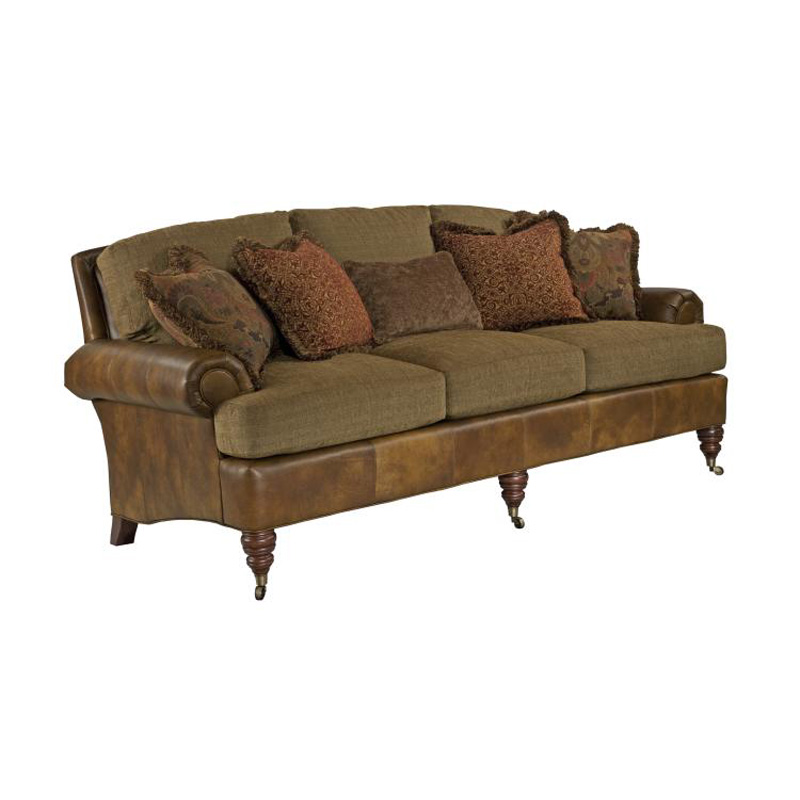 Highland House 2810 86 Le Hh Leather Leather Hatherley Sofa Discount Furniture At Hickory Park