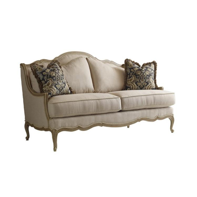 Different Types Of Sofa Settee Sock Arm: Highland House 3030-72 European Excursions Upholstery Styles Veronique Settee Discount Furniture