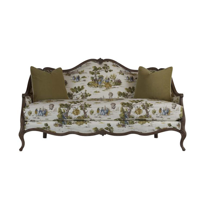Discount Country Furniture: Highland House 4104-75-LE French Country Leather Chinon