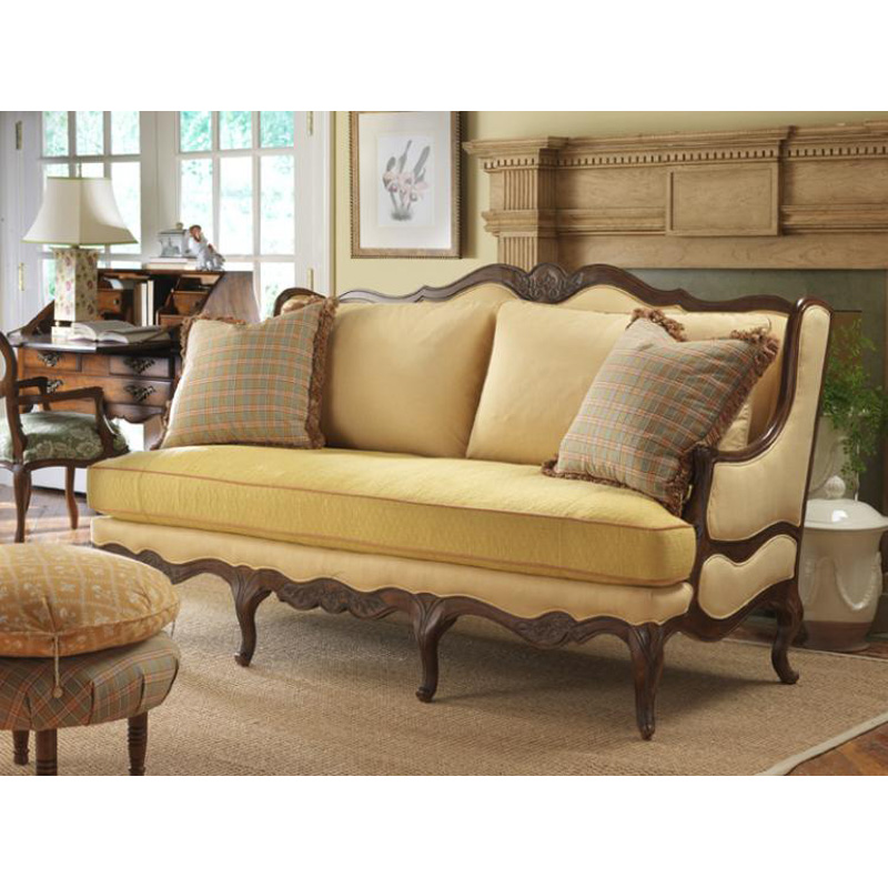 Highland House 4106 77 Fl French Country Regence Sofa Discount Furniture At Hickory Park